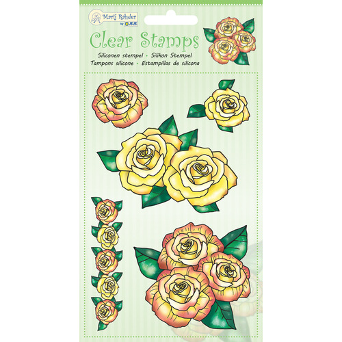 MRJ Clear Stamps Roses