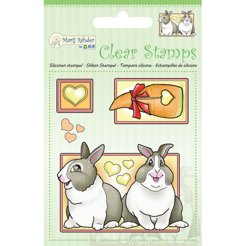 MRJ Clear stamps Rabbits