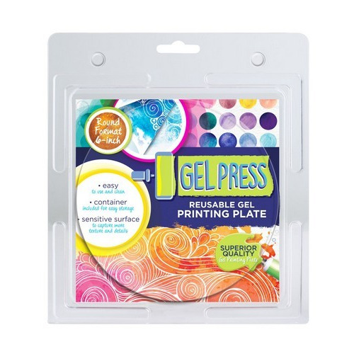 Gel Press Printing Plate - cirkel 10806-6   15,2cm circle (06-17)