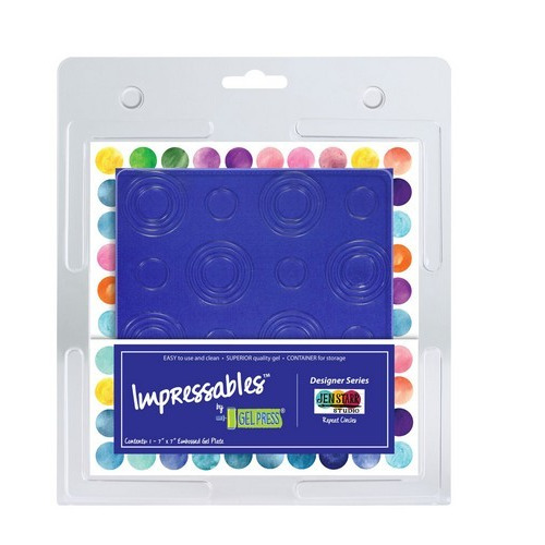 Gel Press Impressables - Repeat circles 10815-JEN-01   17,8x17,8cm (06-17)