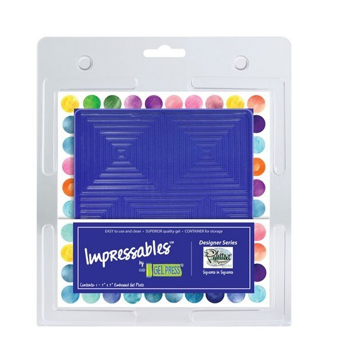 Gel Press Impressables - Squares in Squares 10815-SLM-02   17,8x17,8cm (06-17)