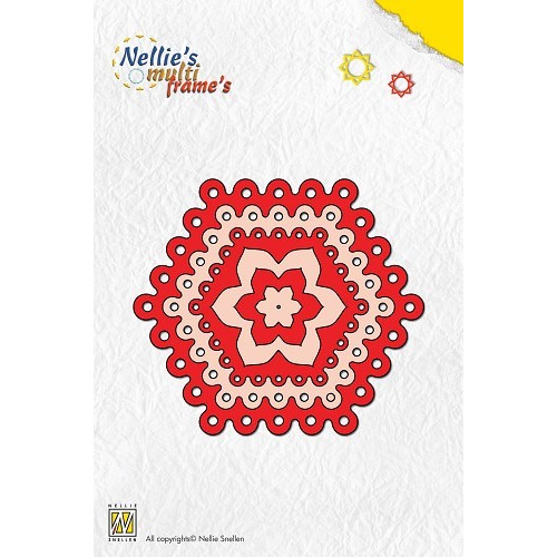 Nellies Multi Frame Die - dots hexagon