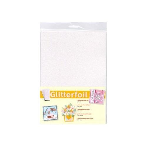 3.0342 Glitterfoil White A4 5 vel
