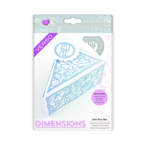 Tonic Studios Die - sweet treat dimensions - cake slice box 1650E (06-17)