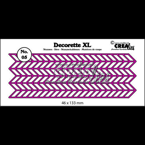 Crealies Decorette XL no. 05 zigzag 46x133 mm / CLDRXL05 (06-17)