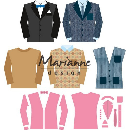 Marianne D Collectable Herenkledingkast COL1434  14,5x20,5 cm (07-17)