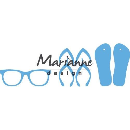 Marianne D Creatable Flipflops & zonnebril LR0477 8,0x18,5cm (07-17)