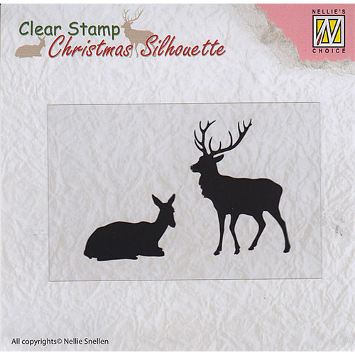 """Christmas Silhouette Clear stamps """"reindeer"""""""