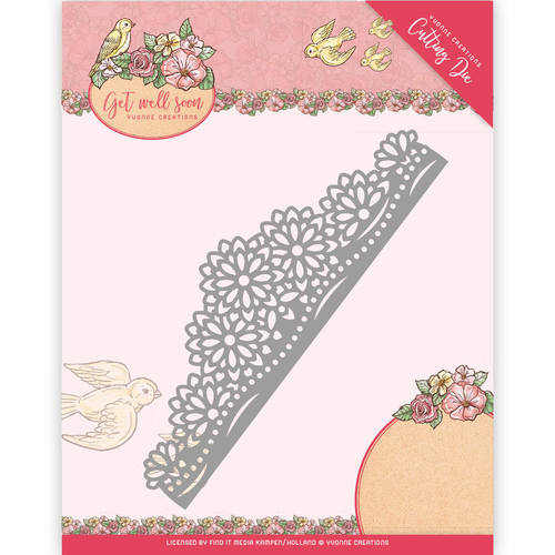 Die - Yvonne Creations - Get Well Soon - Flower border