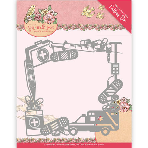 Die - Yvonne Creations - Get Well Soon - Get Well Frame
