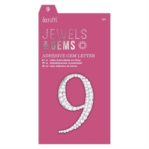 Adhesive Gem Number - 9 - Jewels & Gems