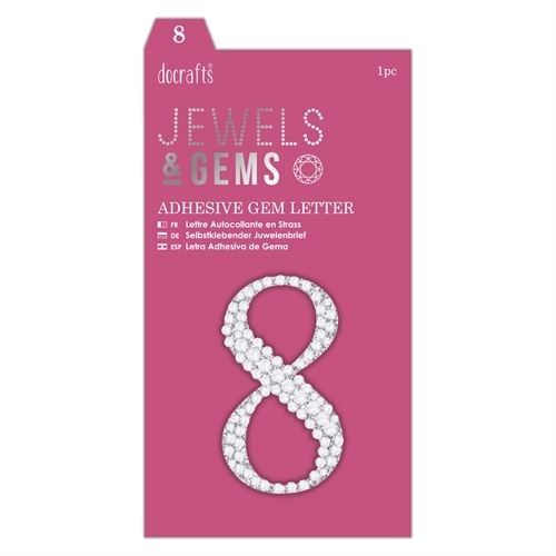 Adhesive Gem Number - 8 - Jewels & Gems