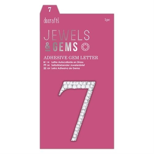 Adhesive Gem Number - 7 - Jewels & Gems