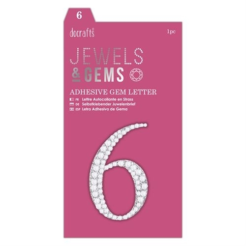 Adhesive Gem Number - 6 - Jewels & Gems