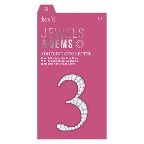 Adhesive Gem Number - 3 - Jewels & Gems