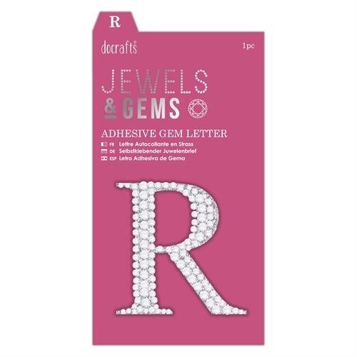 Adhesive Gem Letter - R - Jewels & Gems