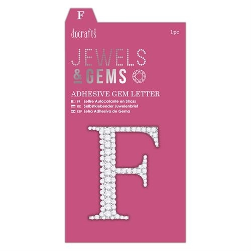 Adhesive Gem Letter - F - Jewels & Gems
