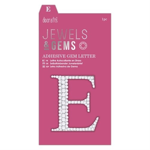 Adhesive Gem Letter - E - Jewels & Gems