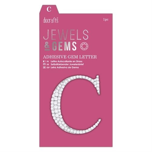 Adhesive Gem Letter - C - Jewels & Gems