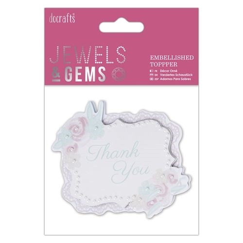 Embellished Topper - Thank You - Jewels & Gems