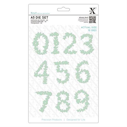 A5 Dies - Floral Numbers