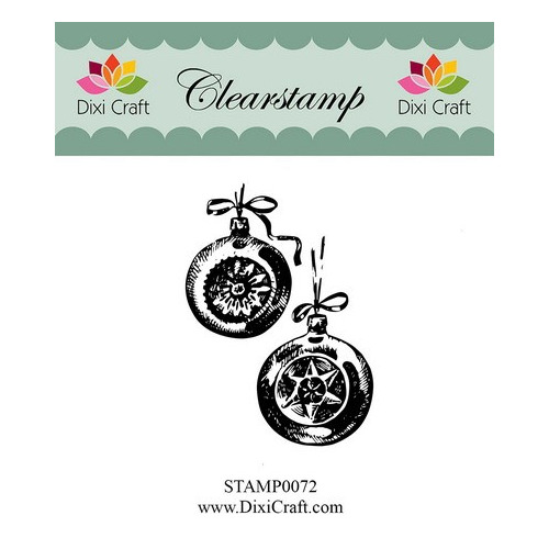 Dixi Clear Stamp christmas balls