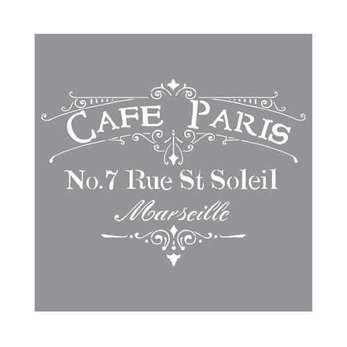 Stencils Cafe Paris