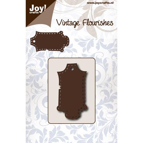 Snijstencil - Vintage Flourishes - Label gestikt