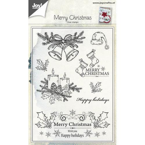 Clearstempel - Kerst kaarsen/klokken