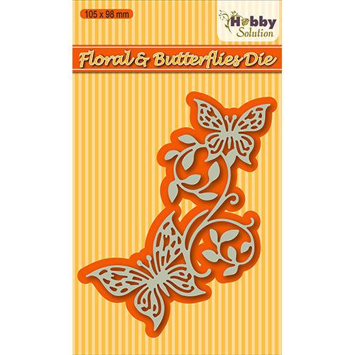 Hobby solutions Die Cut  Floral & butterflies