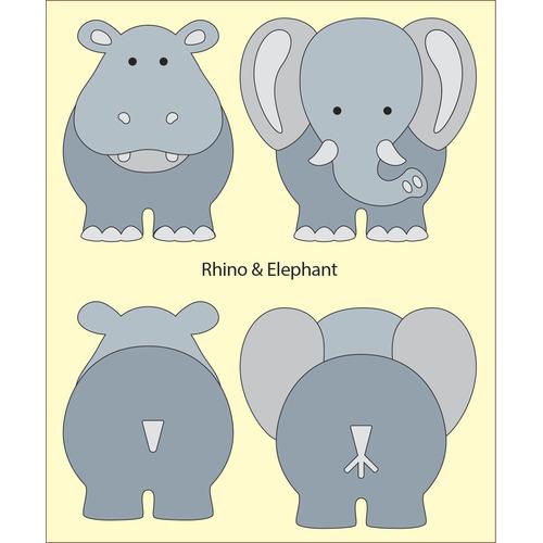 DADA babydies - Rhino en  Elephant  build up