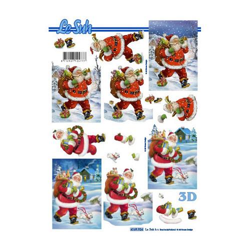 Kerstman Kerst Kado Cadeau Winter Sneeuw