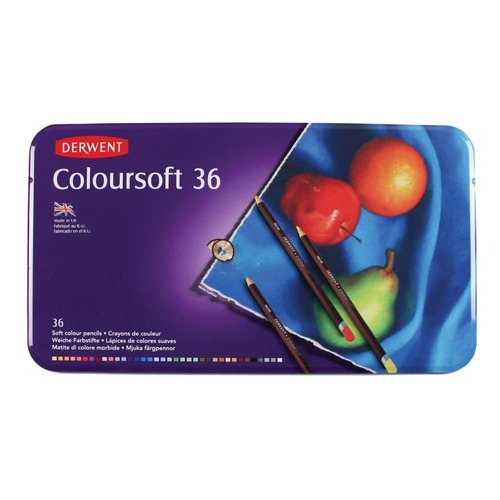 Derwent Coloursoft 36 st blik DCS0701028 (07-17)