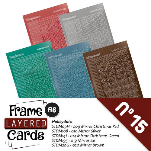 Stickerset Frame Layered Cards 15- A6