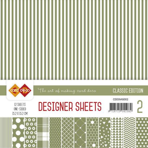 Card Deco - Designer Sheets -  Classic Edition- mosgroen