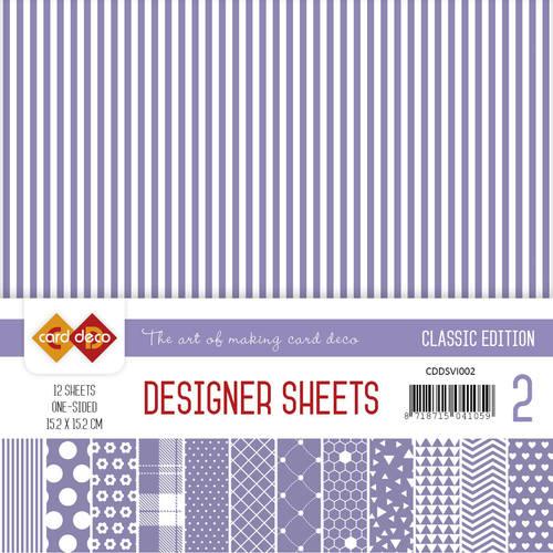 Card Deco - Designer Sheets -  Classic Edition- violet