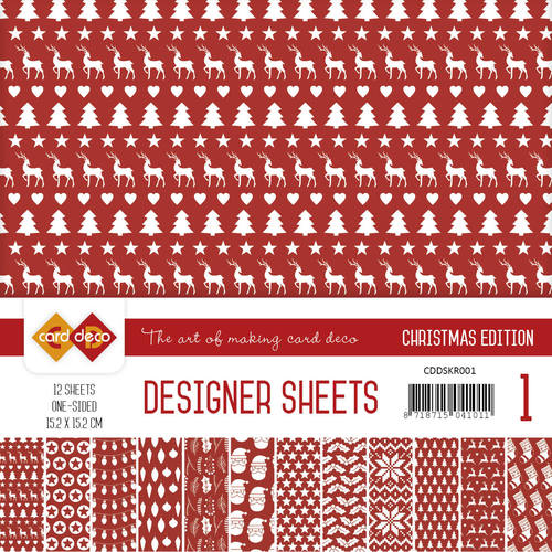 Card Deco - Designer Sheets -  Christmas Edition - kerstrood