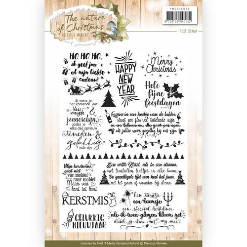 Clear Stamp - Precious Marieke - The Nature of Christmas