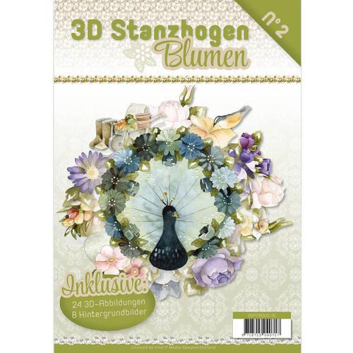 Stanzbogen Buch Blumen