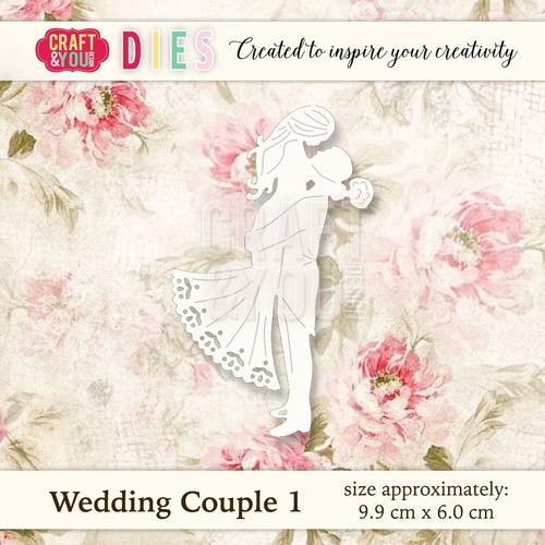 CW018 Die Wedding Couple 1 - 9,9x6cm