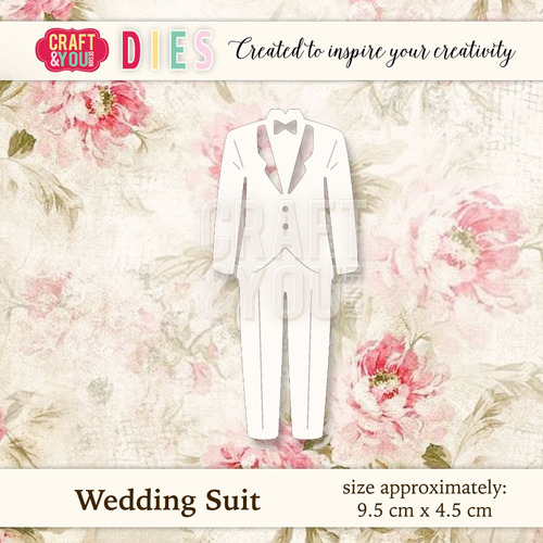CW022 Die Wedding Suit - 9,5x4,5cm