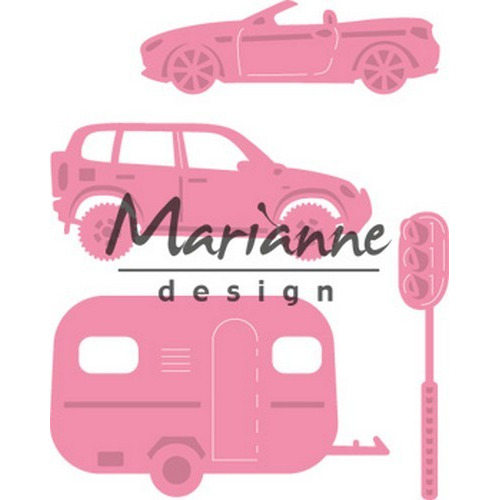 Marianne D Collectable Village decoration set cars COL1435  (08-17)