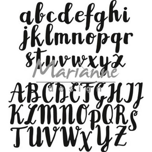 Marianne D Craftable Brush alfabet CR1416 (08-17)