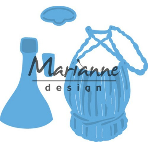Marianne D Creatable Tiny`s Italiaanse wijnfles LR0479 (08-17)