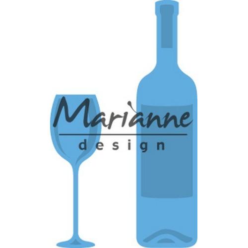 Marianne D Creatable Wijnfles & Wijnglas LR0481 (08-17)