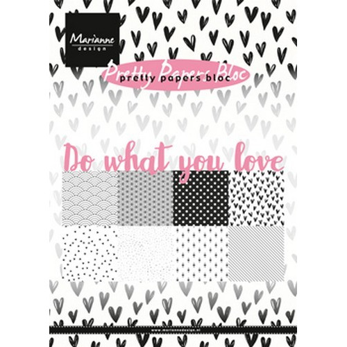 Marianne D Paper pad Do what you love PK9149 15x21 cm (08-17)