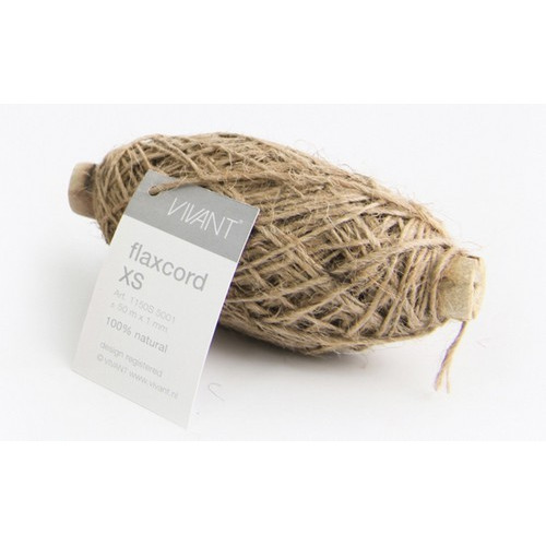 Vivant Jute Flax Koord XS naturel - 50 MT 1MM