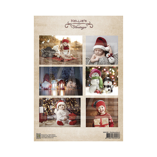 Vintage decoupage sheets Christmastime