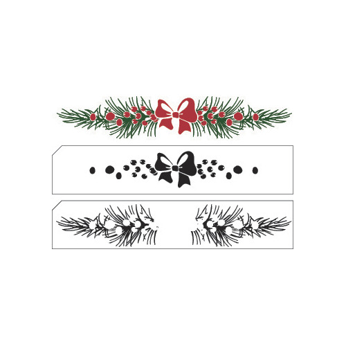 Layered stamp with position edge Christmas Border