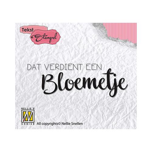 Clear stamp Dutch texts - Dat verdiend een bloemetje